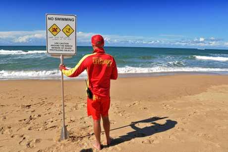 Senior Lifeguard Matt Hadland keeping people safe on Dicky Beach.
