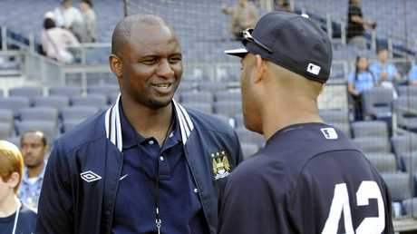 Patrick Vieira (L) has been touted as a potential successor to Wenger