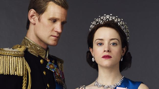 Matt Smith and Claire Foy in The Crown. Picture: Netflix