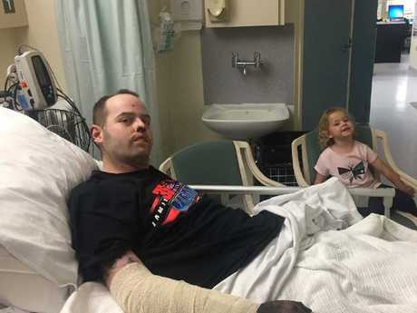 Jake Clift is father to two young daughters. Picture: Gofundme