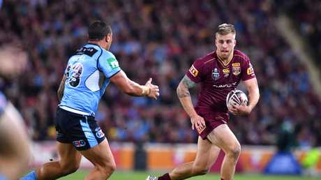 Cameron Munster in action for the Maroons in 2017.