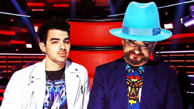 Boy George turned on Sam Perry after his audition. Picture: Channel 9