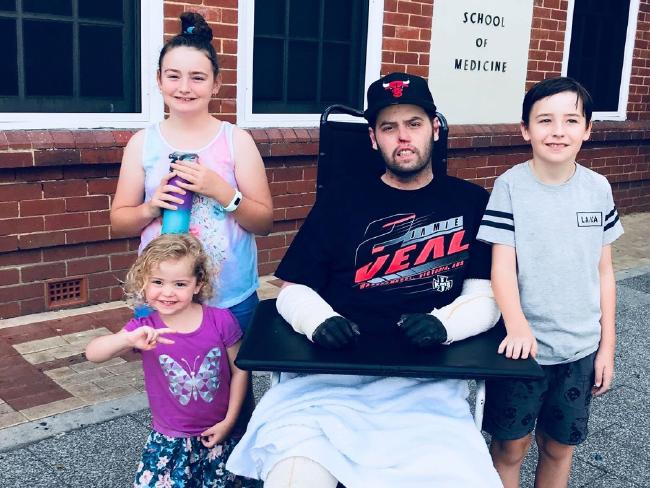 Doctors thought he wouldn't survive. Now Jake Clift is urging people to be vaccinated against the new strains of meningococcal. Picture: Gofundme