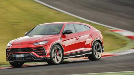 The Urus lived up to its Lamborghini heritage on the track. Picture: Supplied.