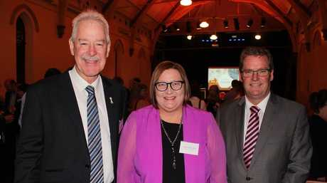 DDWMPHN Board Chair, John Minz, DDWMPHN CEO, Merrilyn Strohfeldt, and Federal Member for Groom, Minister for Regional Development, Territories and Local Government, Dr John McVeigh.