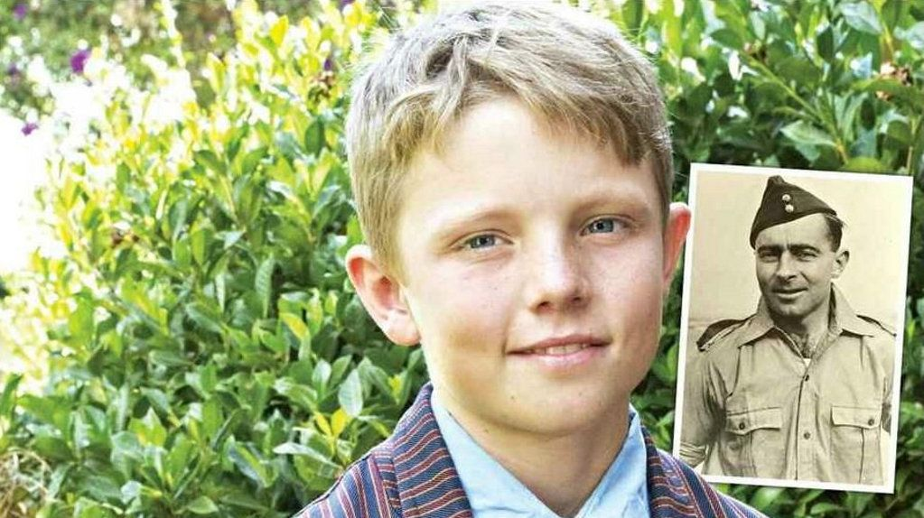 LEGACY: TACAPS student Campbell McIntyre proudly wears the medals of his great-grandfather, Squadron Leader Charles Crombie (INSET).