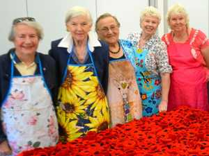 Respite group crafts 800 poppies for Anzacs