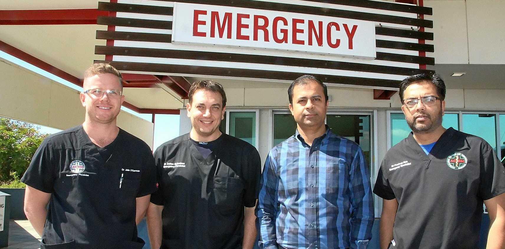 NEW TEAM: Dr. Jacob O'Gorman, Dr Zoltan Galambos, Dr Dilip Kumar and Dr Pradeep Rao