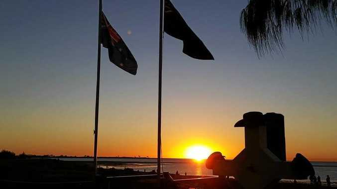 Sunrise from Town Beach after a dawn service at Town Beach in 2015, taken by Lyn Davis-Gregg. Mackay can expect a cool Anzac Day morning.