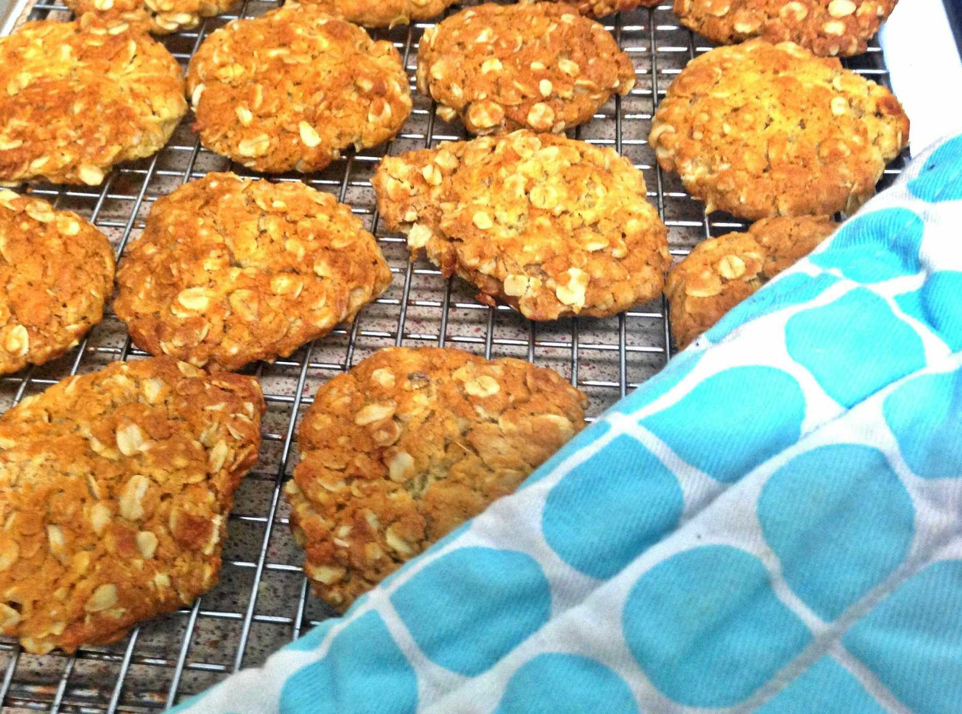 ANZAC BISCUITS: These simple and delicious biscuits are traditionally made to commemorate Anzac Day.