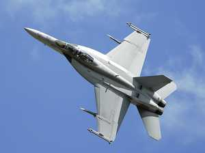 Where to see the Super Hornets flying over for Anzac Day