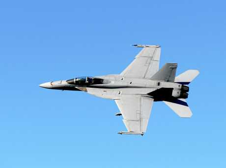 Attendees could see a F/A-18F Super Hornet (pictured), a C-27J Spartan or a C-17A Globemaster.