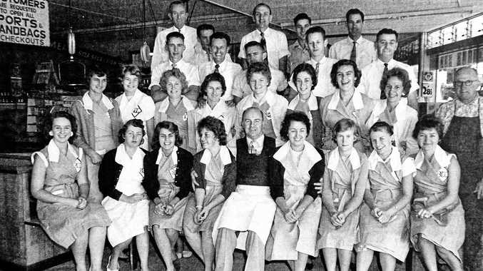 GOOD TIMES: A group photo of staff at the BCC Supermarket in 1960.