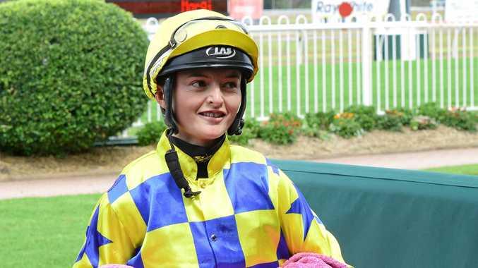Jockey Brooke Ainsworth.