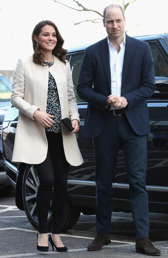 The Duke and Duchess of Cambridge before she went on maternity leave on March 22. Picture: AFP Photo / Pool / Chris Jackson