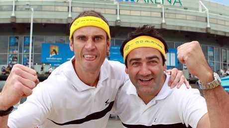 Fitzy and Wippa at the Australian Open in 2011.