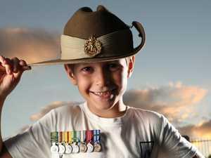 Anzac Day: Noah's tribute to war hero dad he never met