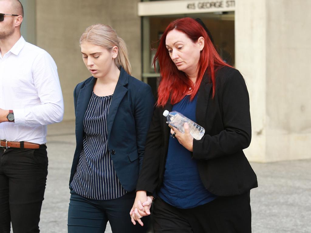 Debbra Chambers, right, the mother of 10-week-old Kye who was killed by his father police officer Colin Randall. Picture: AAP Image