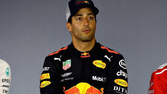 Daniel Ricciardo doesn't have all day.