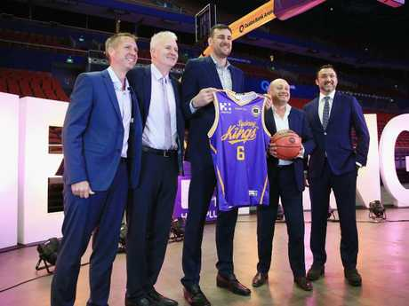 Andrew Bogut is officially unveiled.