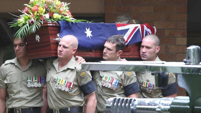 Funeral of LCPL Jared Mackinney at Ashgrove Baptist Church. Picture: Glenn Barnes