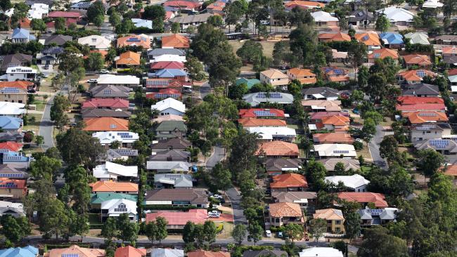 Suburban homes in Brisbane's southwest.