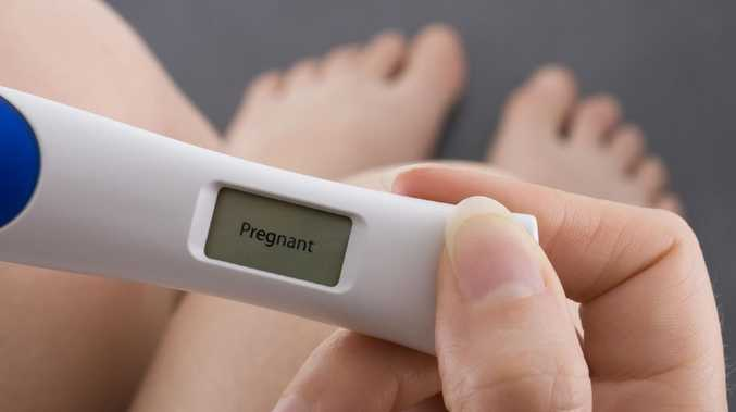 A positive pregnancy test result. Picture: Thinkstock