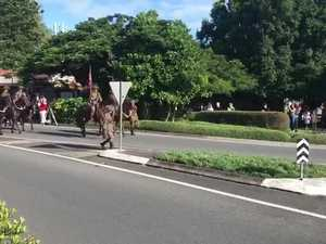 Light horse brigade in Buderim Anzac Day march