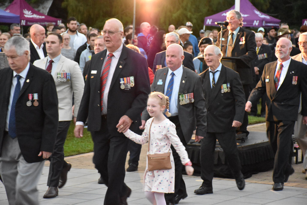 Image for sale: Hundreds gathered for Nambour's 2018 Dawn Service which included a parade of veterans and performances from Nambour State College students.