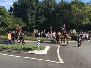 The Anzac Day march in Buderim.