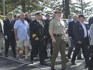 The attendees of the Yamba Anzac Day march.