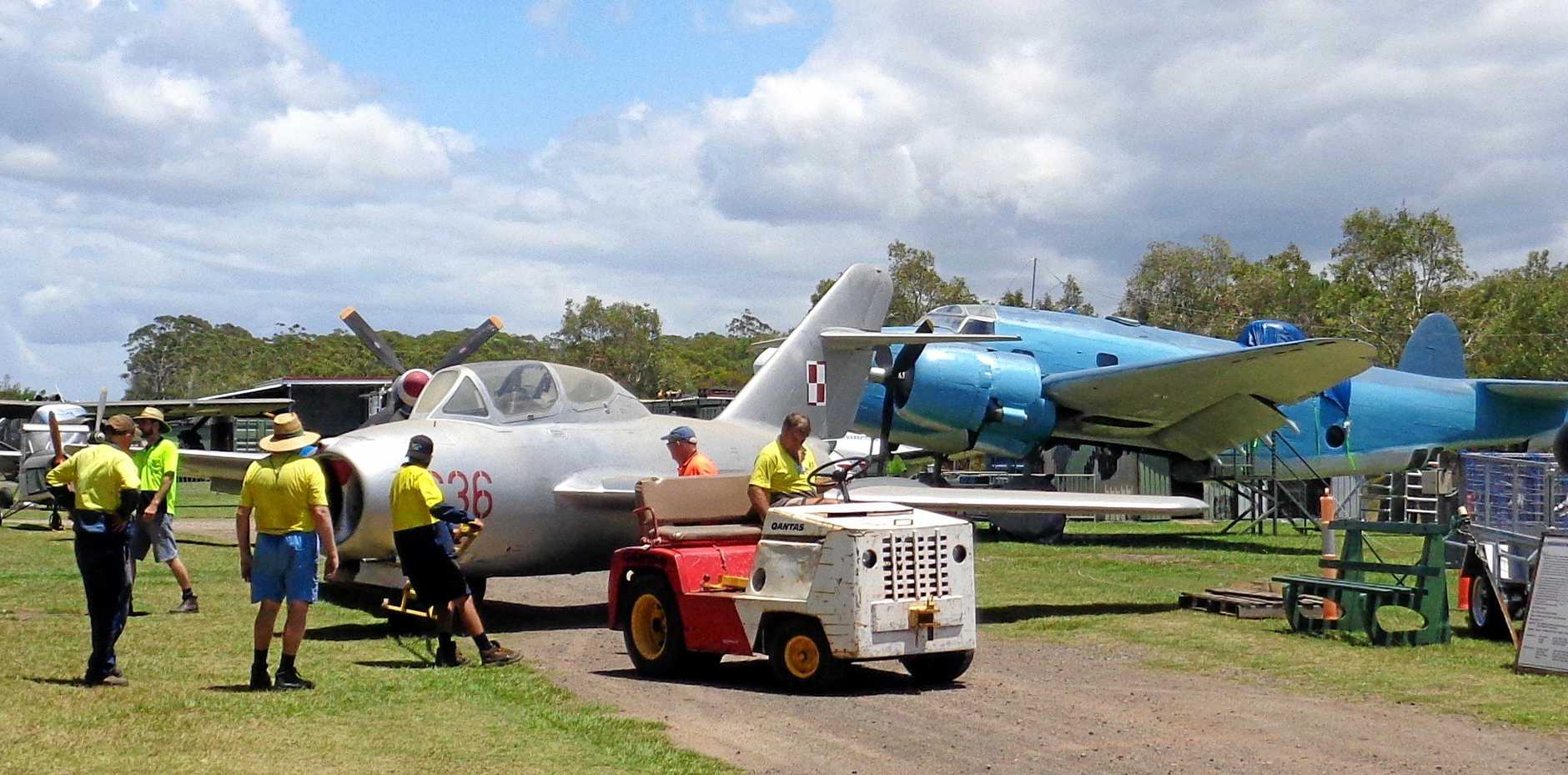 It's always all hands on deck at the Queensland Air Museum.