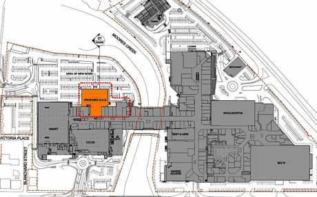 Stockland Rockhampton plans to add a new discount department store adjacent to Coles.