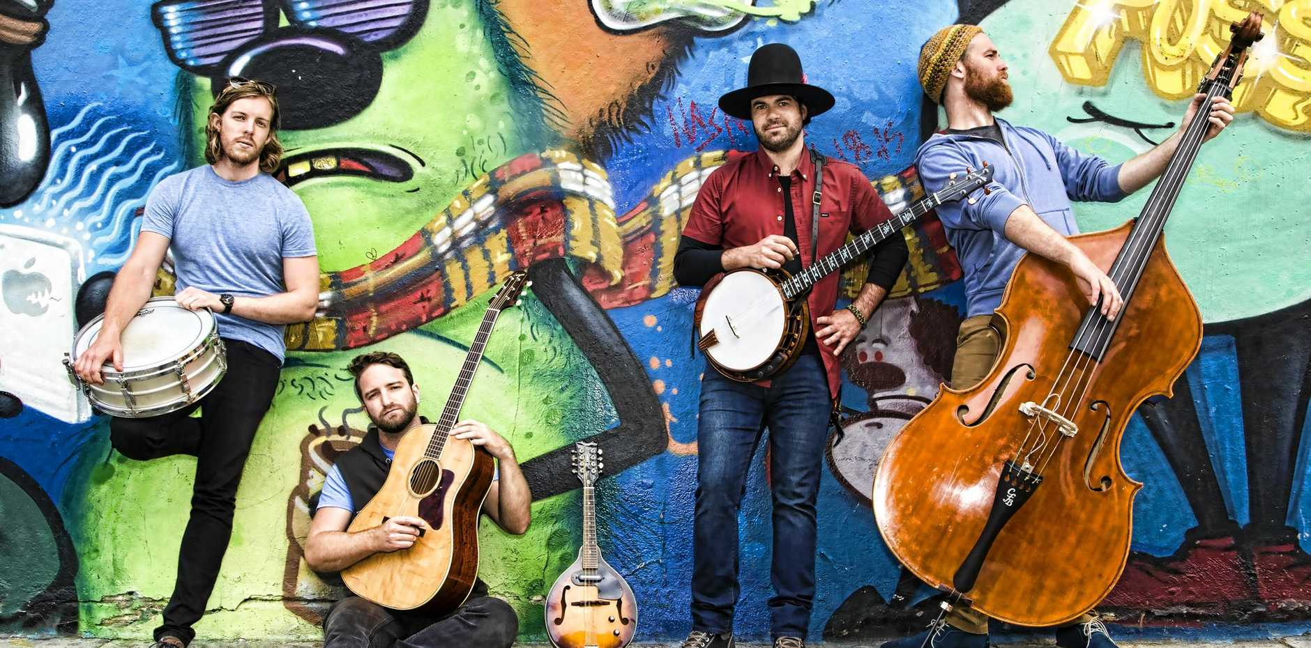 MOON FOLK: Mustered Courage is a progressive bluegrass band from Melbourne whose lively shows feature elements of bluegrass, country rock and jazz. At Wintermoon in 2018.