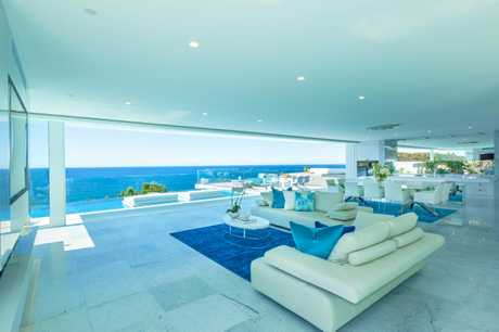 Glen and Deb Watson's Sunshine Beach home Azure featured on the TV series Unreal Estate. Supplied by Channel 9.