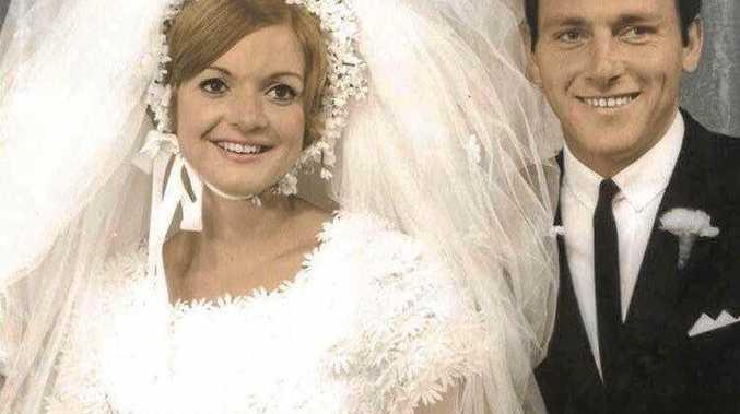 Brian and Gerdi Scott (nee van Genderen) on their wedding day in Mackay on April 26, 1968.