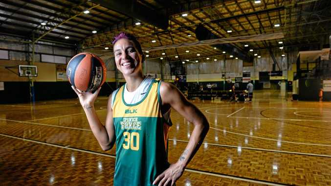EXCITED NEWCOMER: Ipswich Force American import Amanda