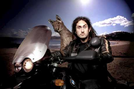 ON THE ROAD: Comedian Ross Noble.