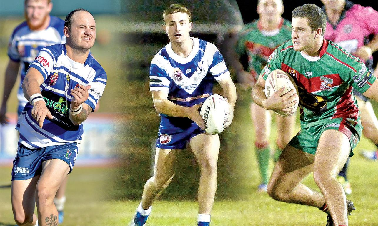REP HONOURS: Pryce Trevor (Brothers), Dayne Richards (Valleys) and Jack Cameron (Tannum) were all chosen in the Gladstone Raiders squad for the upcoming 47th Battalion carnival in Toowoomba.