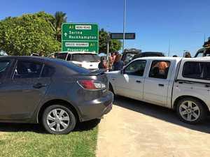 Crash at busy Mackay CBD intersection