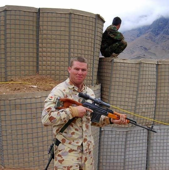 Coast resident John Gosling during his time serving in the Australian Army at a patrol base in the Baluchi Valley in Afghanistan in late 2008.