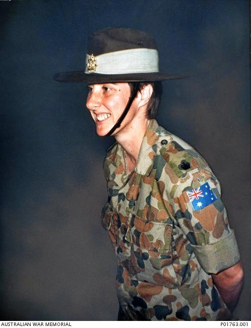 INSET: Susan Felsche, a major in the Australian Army, was the first Australian woman to die on an overseas military operation since the Second World War.