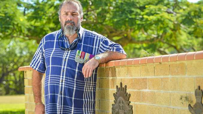 Australian Army Signalman Chris Feros served in Western Sahara during the 90s, and attended the 2018 Anzac Day Ceremony at Boyne Island.