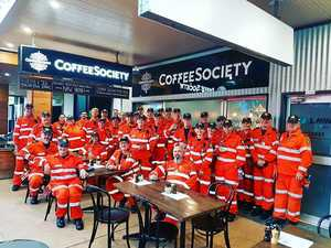 Caffeinated kindness pays off for charity, servicepeople