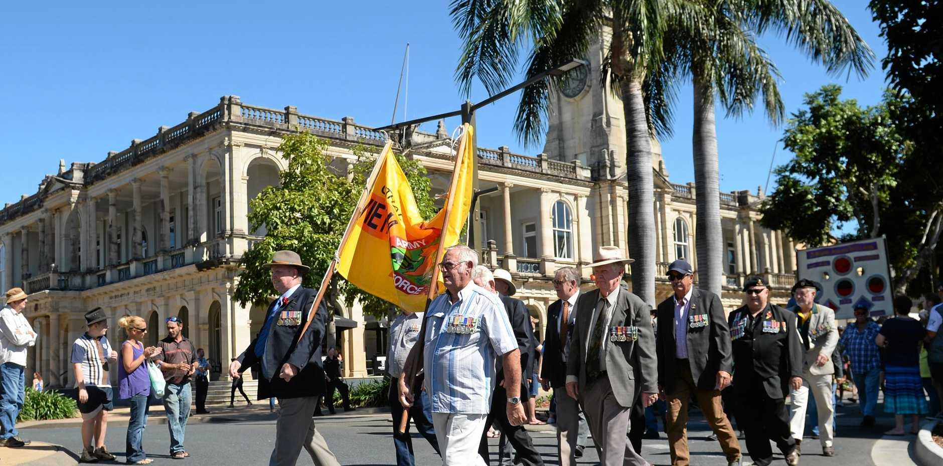ANZAC Day in Rockhampton.