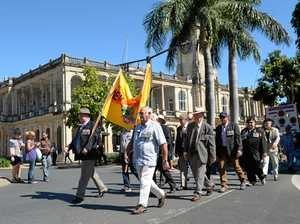 GALLERY: Anzac Day services and march in Rockhampton
