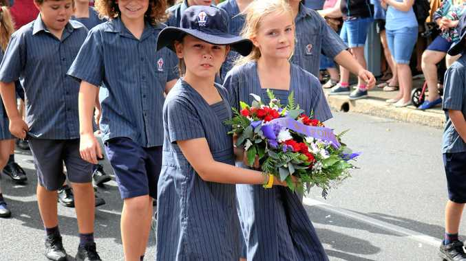 Anzac march at Sawtell.