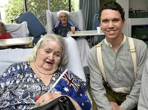 Students bring Anzac service to city nursing home