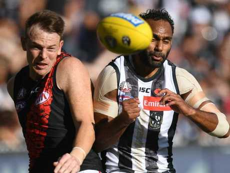 Brendon Goddard won a lot of the ball, but also was frustrated with teammates. Pic: AAP