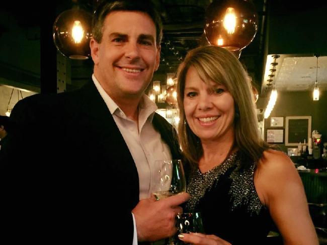Jennifer and her husband Michael. Picture: Jennifer Riordan